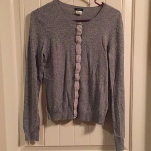 J. Crew cardigan with center detail.